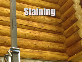 Log Home Staining  Augusta County, Virginia